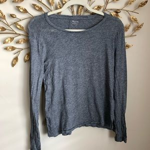 Madewell▪️Marled Gray L/S Slip over Tee. S
